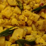 Green Plantain Curry, Balekai Palya