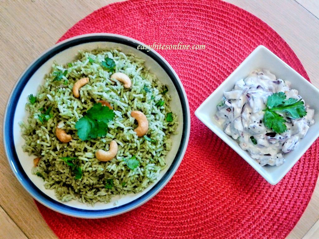 Mint Rice + Onion Raitha