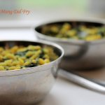 Spinach Mung Dal Fry | spinach cooked with split dehusked green gram
