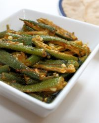 5 minute Okra Masala in microwave | Bhindi Masala using microwave