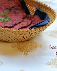 Beetroot Flat Bread | Beetroot Roti, the Indian way