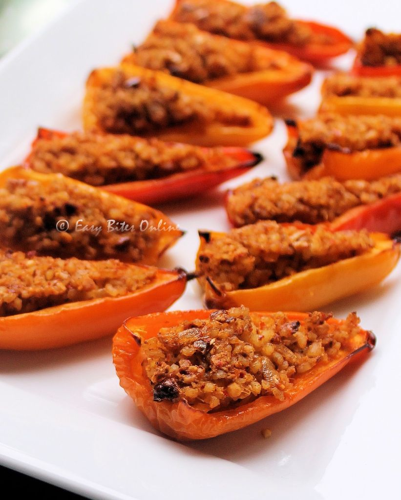 bulgur wheat stuffed mini bellpeppers