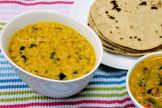 mung dal with spinach, roti, bhindi dahiwale 006 wm