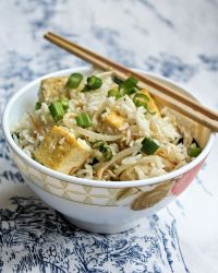 tofu sprouts rice