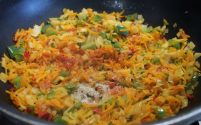 add spice powders - red chili powder, chaat masala, salt to taste, mix well, cook at low heat