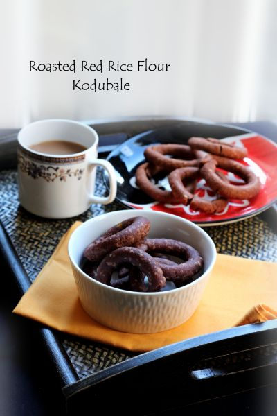 roasted-red-rice-flour-kodubale-baked-and-fried