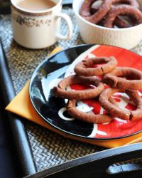 Roasted Red Rice Flour Kodubale – Baked And Fried Versions