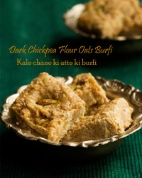Dark Chickpea Flour Oats Fudge/Kale Chane Ki Atte Ki Burfi