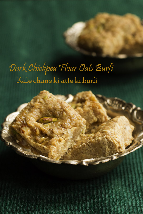 dark-chickpea-flour-oats-fudge-kale-chane-ki-atte-ki-burfi-recipe