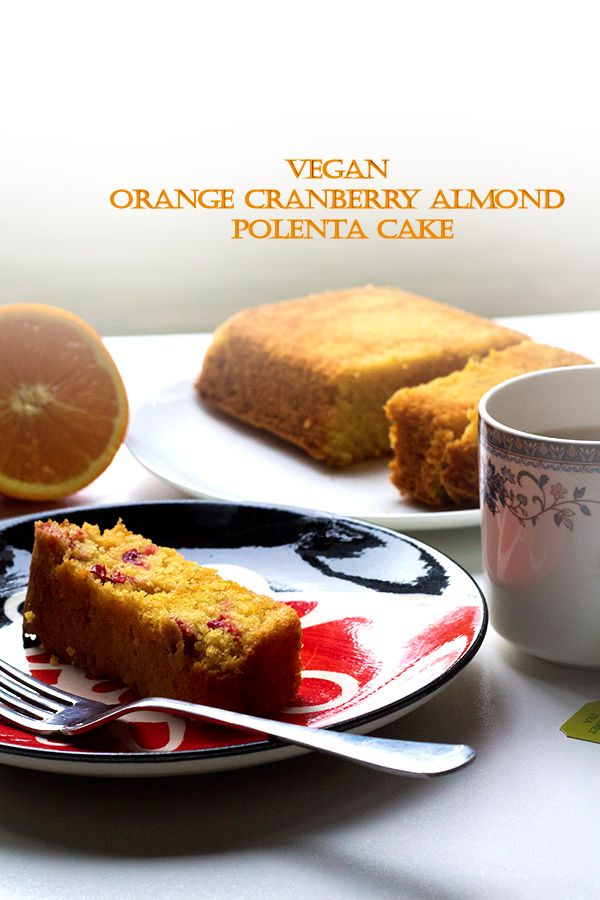 vegan orange cranberry and almond polenta cake 3