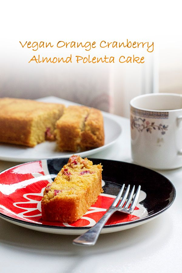 vegan orange cranberry and almond polenta cake 4