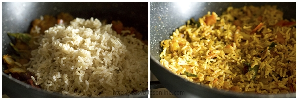 Phodnicha Bhat - Maharashtrian Spiced Rice Preparation