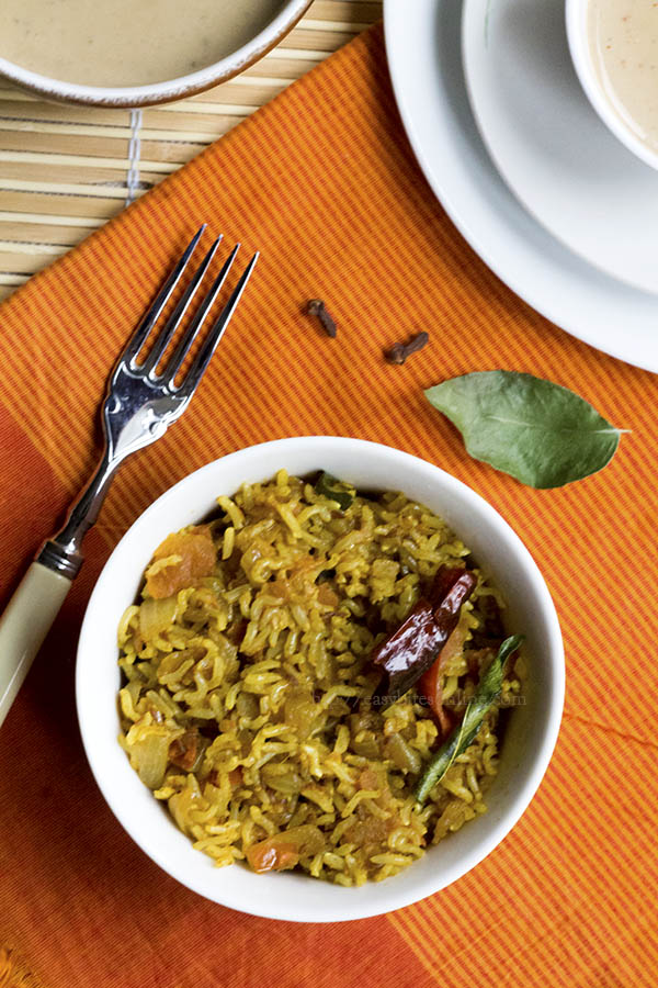 Phodnicha Bhat - Maharashtrian Spiced Rice Single Pot Preparation