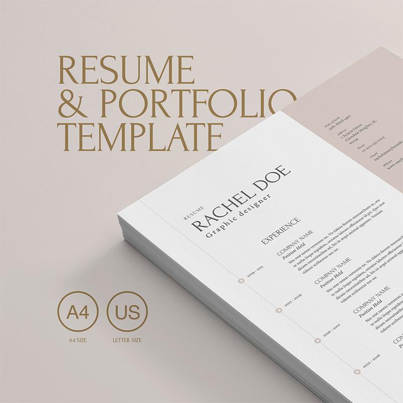 Free easy to edit professional Resume Portfolio Template Resume Templates Easybrandz