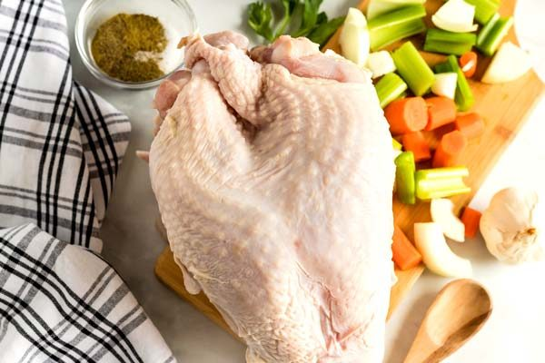 All of the ingredients needed to make Instant Pot Turkey Breast.