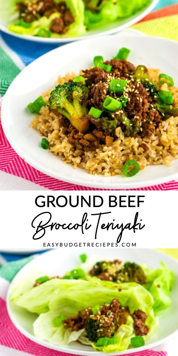 Ground Beef and Broccoli Teriyaki is a quick, easy, and healthy meal that the entire family will love. It costs just $9.56 to make and $1.60 per serving! via @easybudgetrecipes