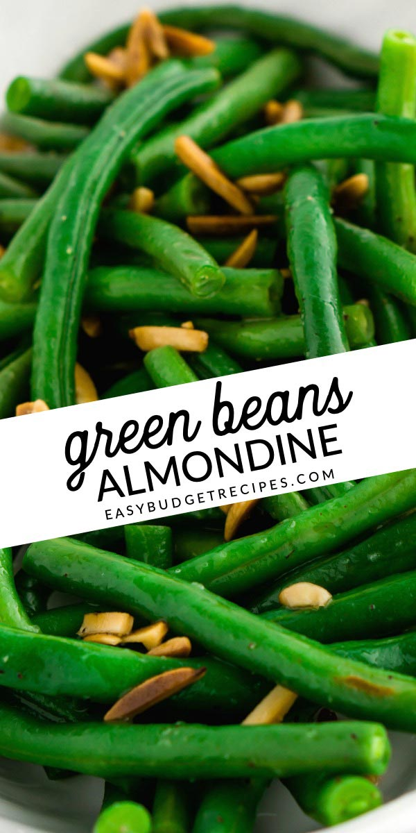 Fresh Green Beans Almondine is an easy side dish recipe for special occasions or weeknights. This recipe serves 10 people and costs just $5.35 to make.  via @easybudgetrecipes