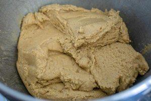 Mix in flour until no flour streaks remain.