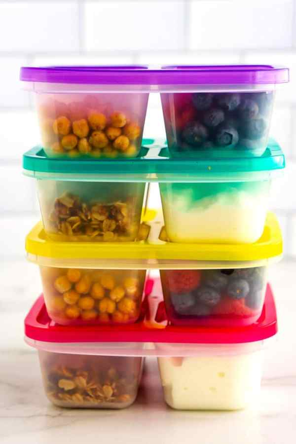 Stacked grab and go boxes