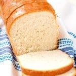 Slices of homemade white bread.
