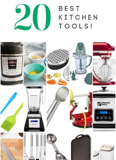 A picture collage of our favorite kitchen tools