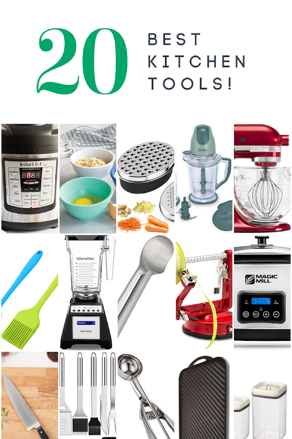 Here are our 20 Favorite Kitchen Tools that we use regularly. These are our tried and true kitchen tools that are real workhorses in our kitchens. via @easybudgetrecipes