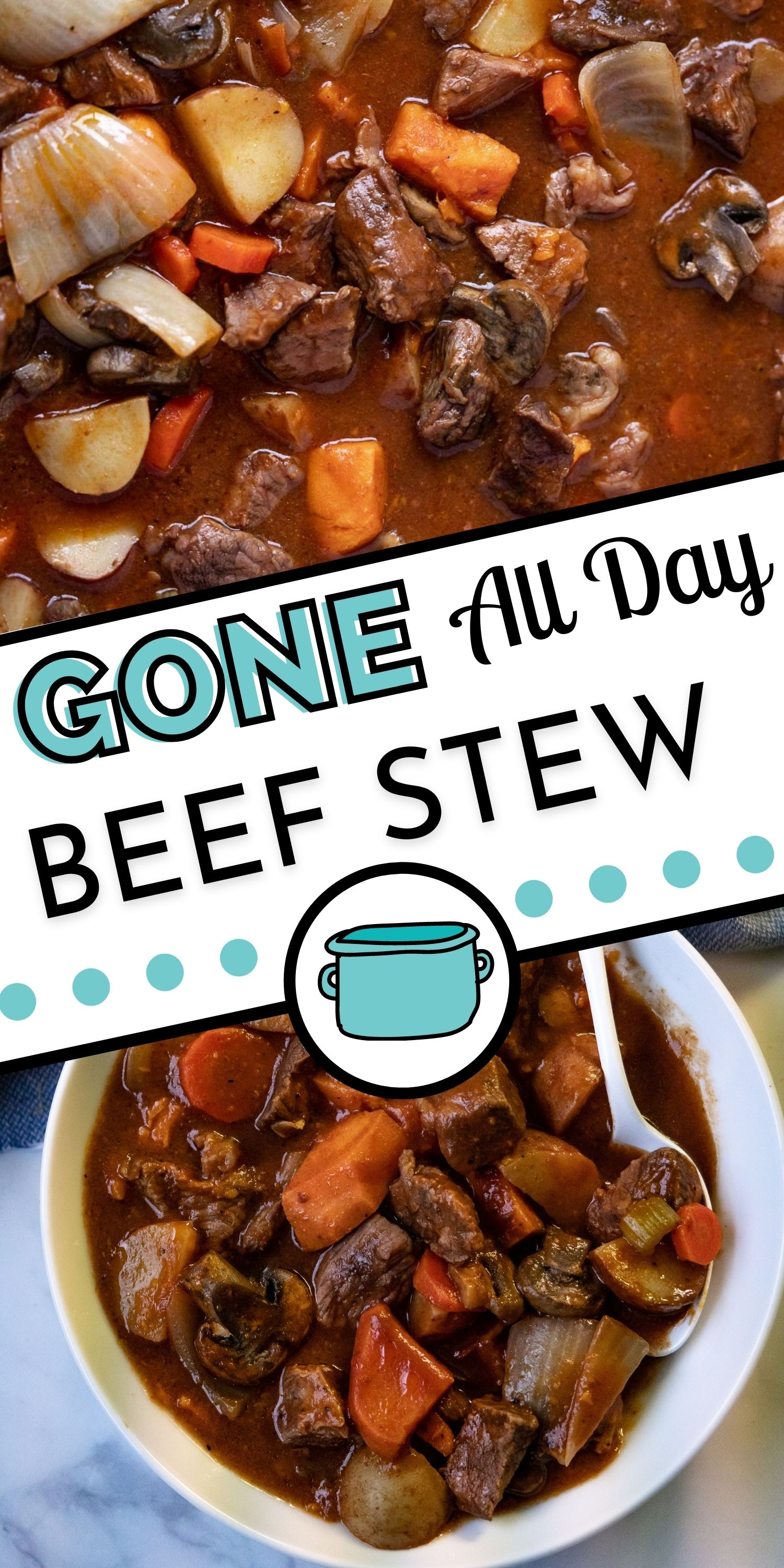 Gone All Day Beef Stew is a recipe our grandpa first made over 30 years ago. It's a comfort food classic that feeds 12 people, making it perfect for Sunday family dinners. via @easybudgetrecipes