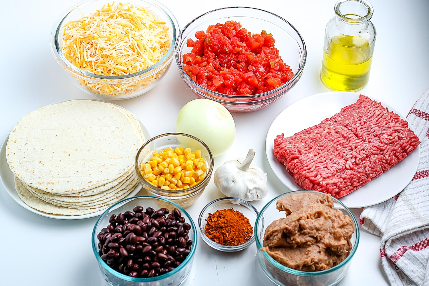 All of the ingredients needed to make this recipe.