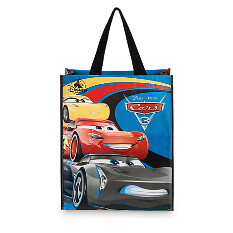 Disney Cars 3 resusable tote bag is a fun way for kids to carry around their personal belongings.