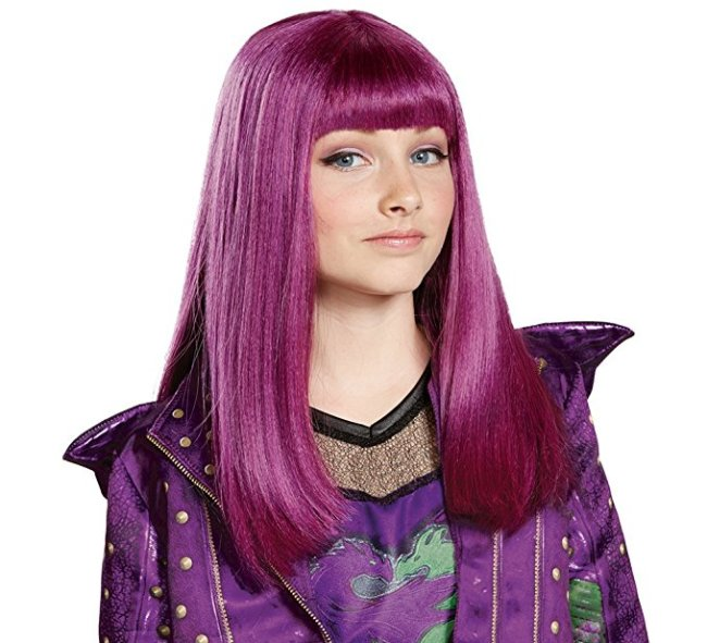 Disney Descendants 2 Mal Costume Wig that goes with the deluxe Mal costume.