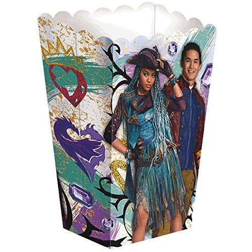 Disney Descendants 2 party favor container featuring Uma and Jay.