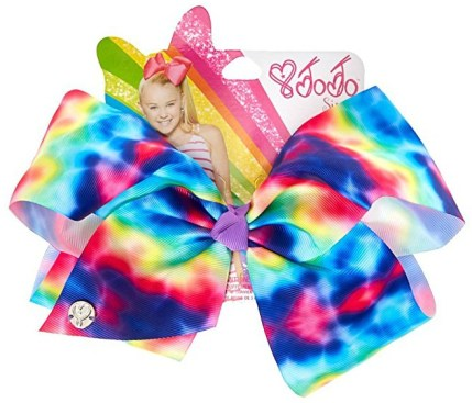 This hair bow is just one of many your child can wear for her DIY JoJo Siwa Costume.