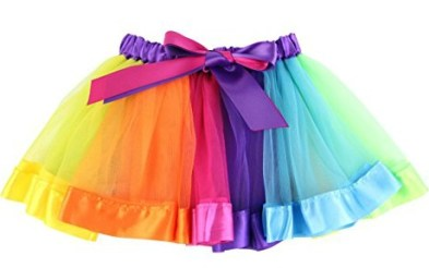 Rainbow tutu for girls is a great accessory for your Disney Descendants 2 Dizzy Tremaine costume