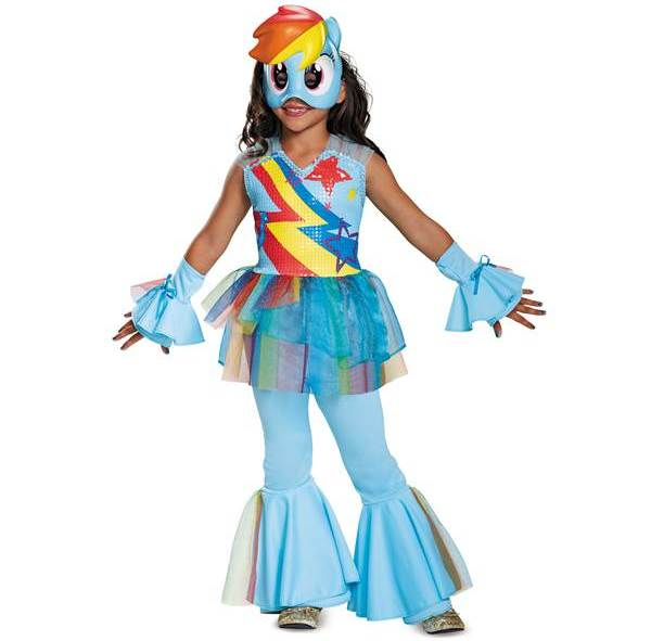 Rainbow Dash Deluxe Halloween costume for girls