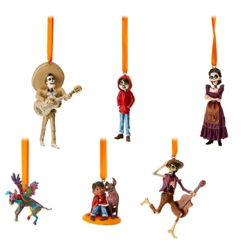 This Disney Coco Sketchbook Ornament Set can be hanging from your tree this year.