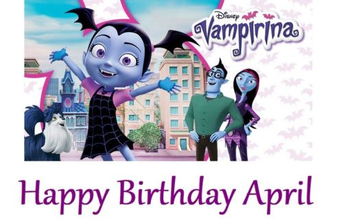 Vampirina party supplies cake topper that can be personalized