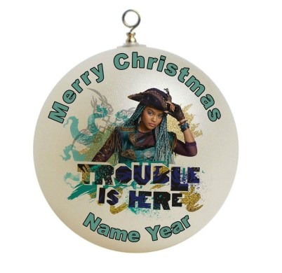 This Disney Descendants 2 Uma Christmas ornament can be personalized