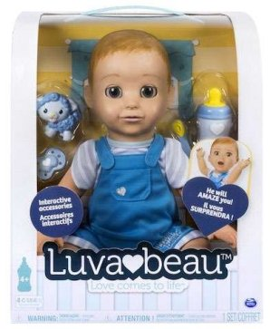 Luvabeau interactive and responsive doll is now available in a baby boy!