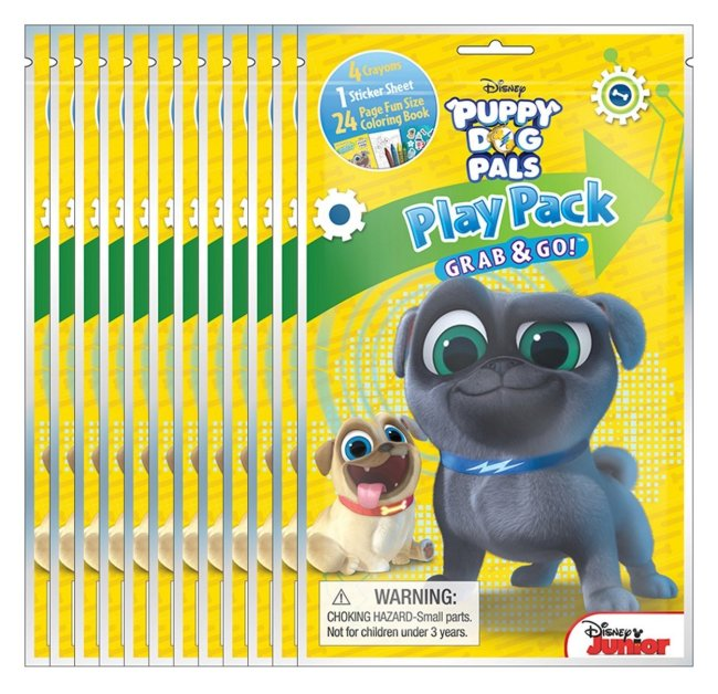 Puppy Dog Pals Party favors-Grab and Go Packs of 12 are an on the go art kit