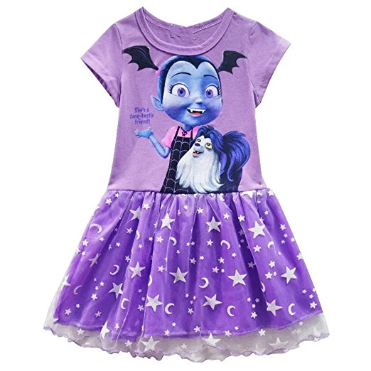 This Vampirina tutu party dress comes in many sizes for preschool girls