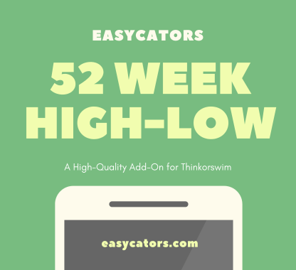 52 week high low indicator and scan for thinkorswim