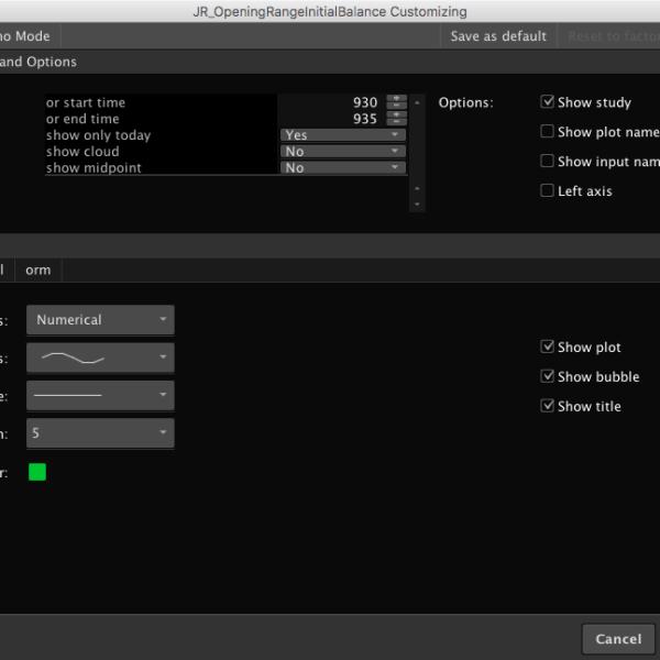 initial balance opening range breakout indicator settings