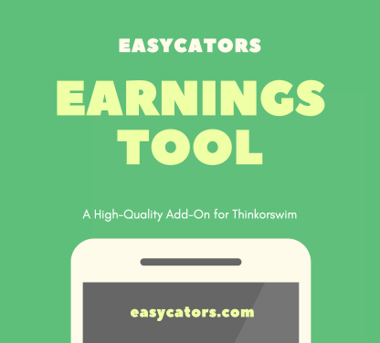 thinkorswim earnings tool and release calendar indicator