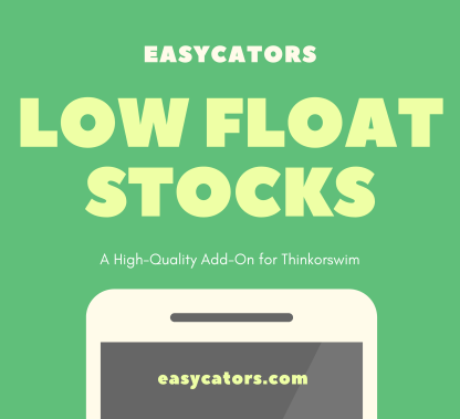 thinkorswim low float stock lists and scan