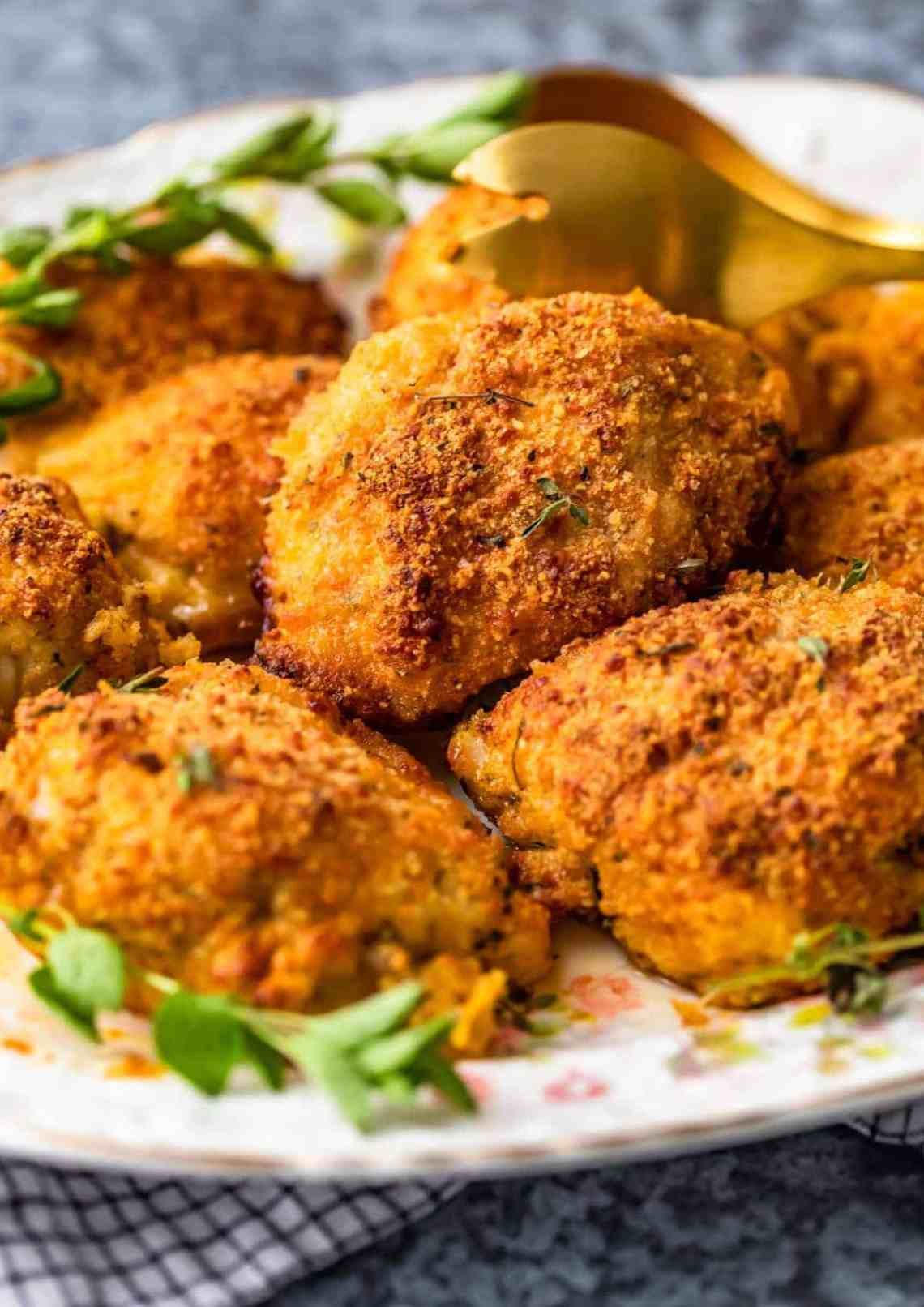 Parmesan Crusted Chicken (Oven Fried) - Easy Chicken ...