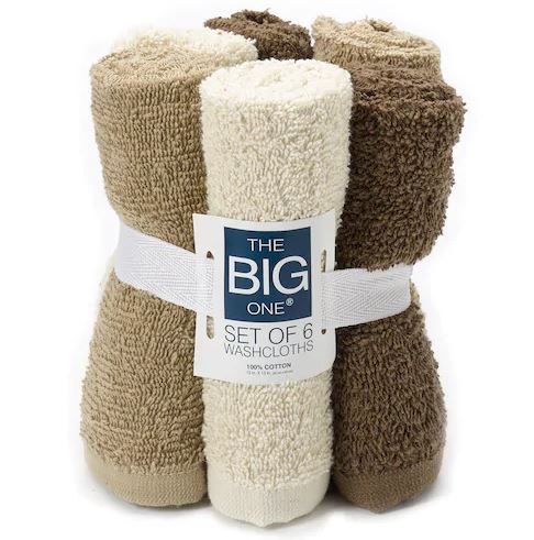 Kohl's: $3.19 – The Big One Solid 6pk Washcloths
