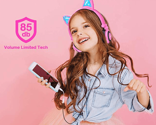 Amazon: LOBKIN Foldable Wired Over Ear Kids Headphone with Glowing Light – $8.80