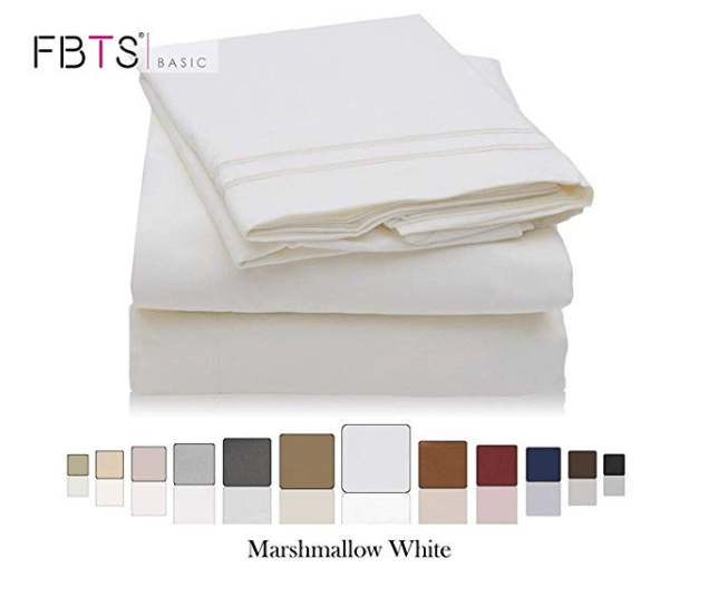 Amazon – $14.57 – FBTS Basic 4pc Queen Sheet Set