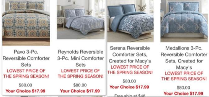 Macy's: 3pc Comforter Sets – $17.99