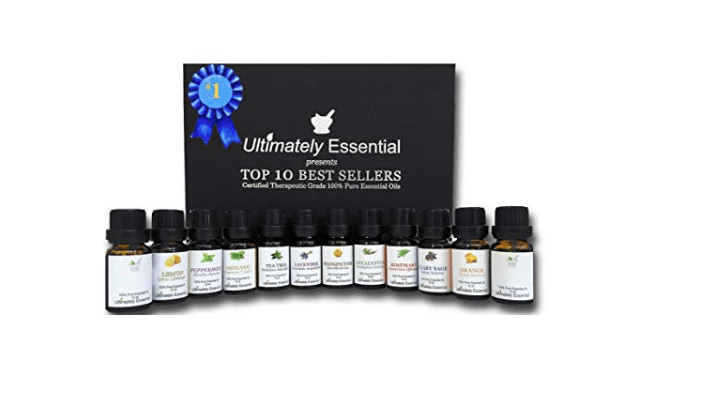 Amazon: Ultimately Essential Oils Top 10 Gift Set Kit 10ml 2 Empty 2 Blend – Highest Quality 100% Pure Therapeutic Frankincense Clary Sage Lavender Peppermint Rosemary Tea Tree Eucalyptus – $8.25